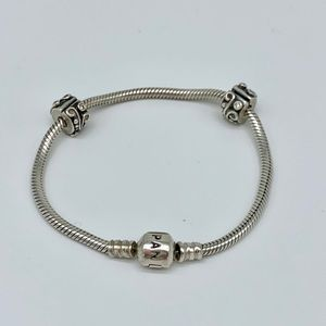 LIKE NEW Pandora bracelet with locks